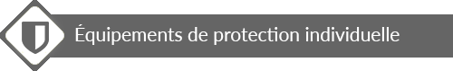 Equippement de protection individuelle bande